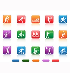 sports people buttons vector image vector image