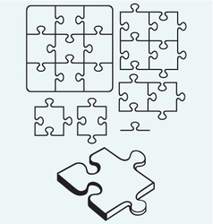 Various puzzle vector image