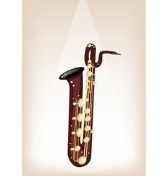 A Musical Baritone Saxophone on Stage Background vector image vector image