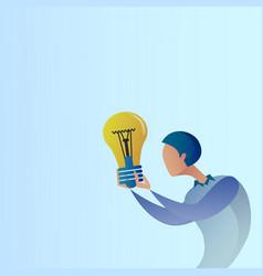 abstract business man new creative idea concept vector image