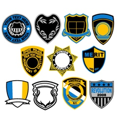 badge collection vector image vector image