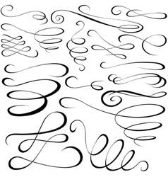Calligraph Elements vector image vector image