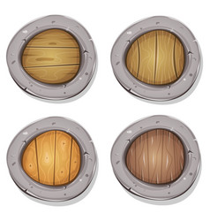 comic rounded viking shields vector image
