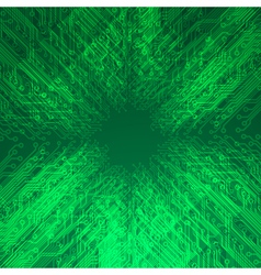 Abstract electronics green background vector image vector image