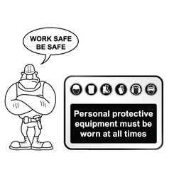 Black Health and Safety sign vector image vector image