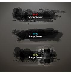 Grunge transparency banner vector