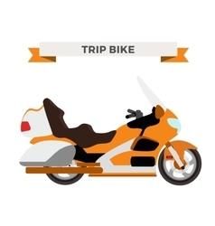 Motorcycle moto bike isolated vector