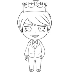 Prince Coloring Page 1 vector image