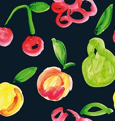 Seamless pattern of fruit Watercolor vector image