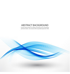 blue waveabstract white background with blue wavy vector image