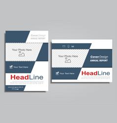 book album brochure flyer design template vector image