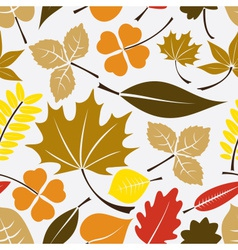 color leaves icon seamless pattern eps10 vector image