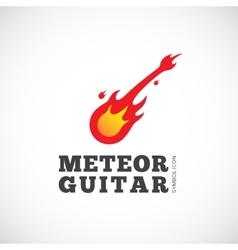 Meteor Guitar Concept Symbol Icon or Logo Template vector image