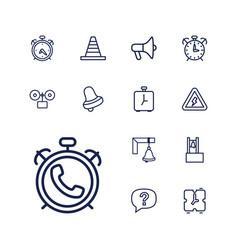 13 alert icons vector
