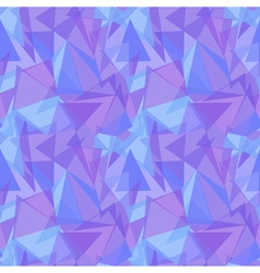 Abstract purple triangular seamless pattern vector