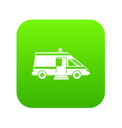 ambulance icon digital green vector image