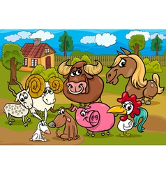 Animals country group m vector