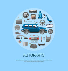 Auto spare parts icons concept banner car service vector