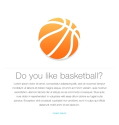 Basketball icon Orange basketball ball vector