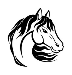Black horse sign vector