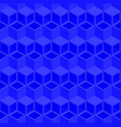 Blue cubes pattern seamless background vector