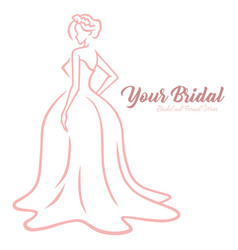 Bridal wear logo wedding fashion boutique logo vector