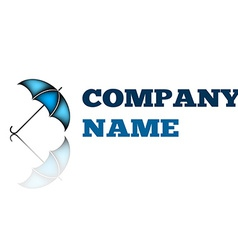 Business abstract logo Umbrella sign icon logotype vector