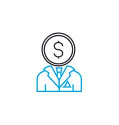 businessman thin line stroke icon vector image