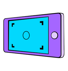 camera viewfinder icon cartoon vector image