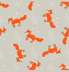 cartoon fun print cute seamless pattern with vector image
