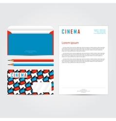 Cinema 3d corporate identity template set vector image