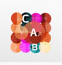 Circle bubbles modern geometric background vector