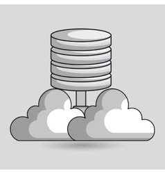cloud data base center vector image