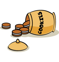 Cookie jar vector