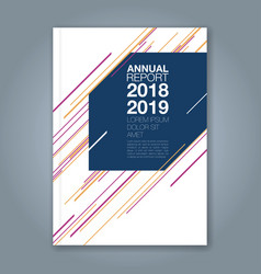 cover annual report 899 vector image