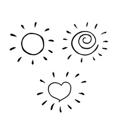 Creative sunny collection in cool childish style vector