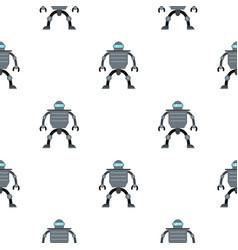 Cyborg robot pattern seamless vector