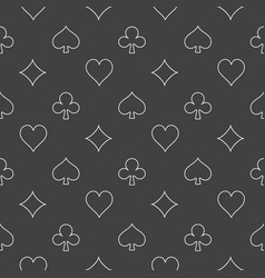 Dark card suits pattern vector