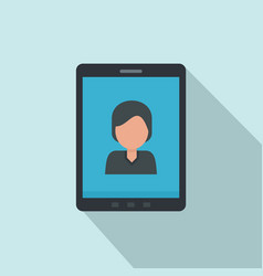 device video call icon flat style vector image