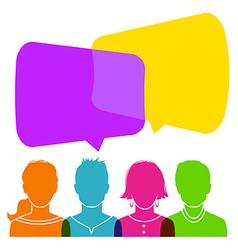 Dialog people vector