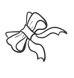 Doodle bow-knot vector image