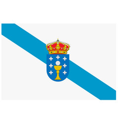 flag of spain autonomous community galicia vector image