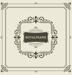 frame template vintage ornament greeting vector image vector image