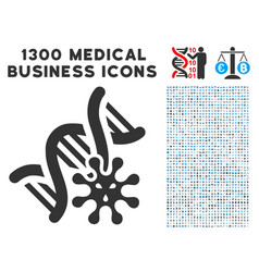 Genetics icon with 1300 medical business icons vector