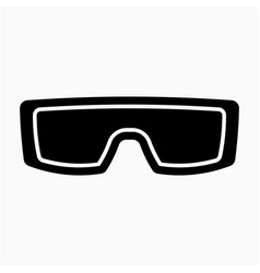 Glyph beautiful glasses icon vector