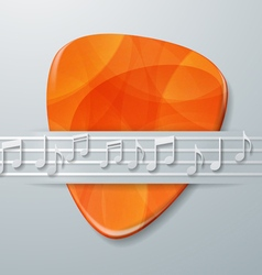 Guitar Pick and Music Notes Background vector
