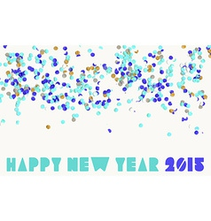 Happy new year party 2015 vector image