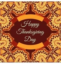 Happy thanksgiving invintation frame vector