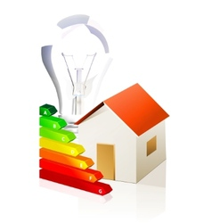 house and energy classification vector image