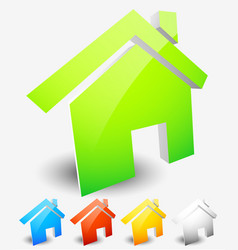 house icons home house residential building vector image